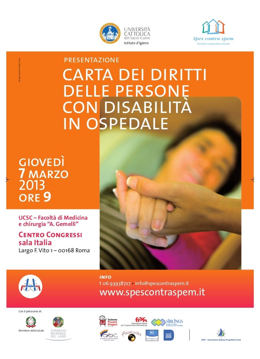 Carta diritti disabili in ospedale