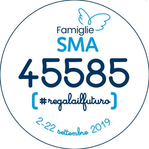 Scarica l'adesivo stampabile per la campagna solidale raccolta fondi di Famiglie SMA