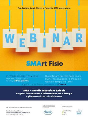 Mercoledì 10 febbraio ore 17.30 Webinar famiglie SMA