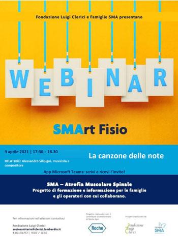 Venerdì 9 aprile ore 17.30 - Webinar SMArtFisio - La canzone delle note