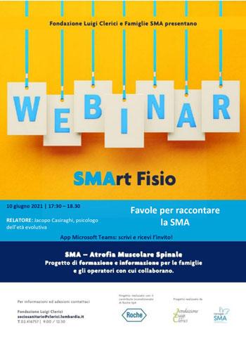 Giovedì 10 giugno Webinar SMArtfisio Favole per raccontare la SMA